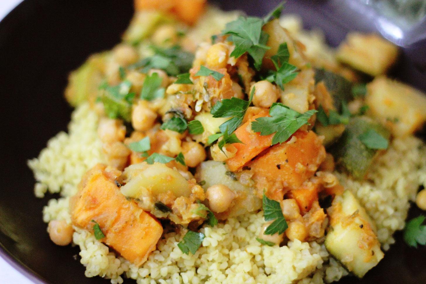 Marokkanischer-Gemüseeintopf
