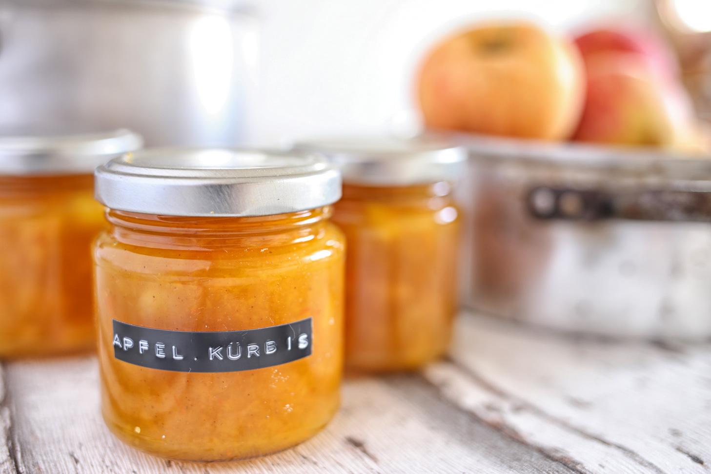 Apfel-Kuerbis-Marmelade