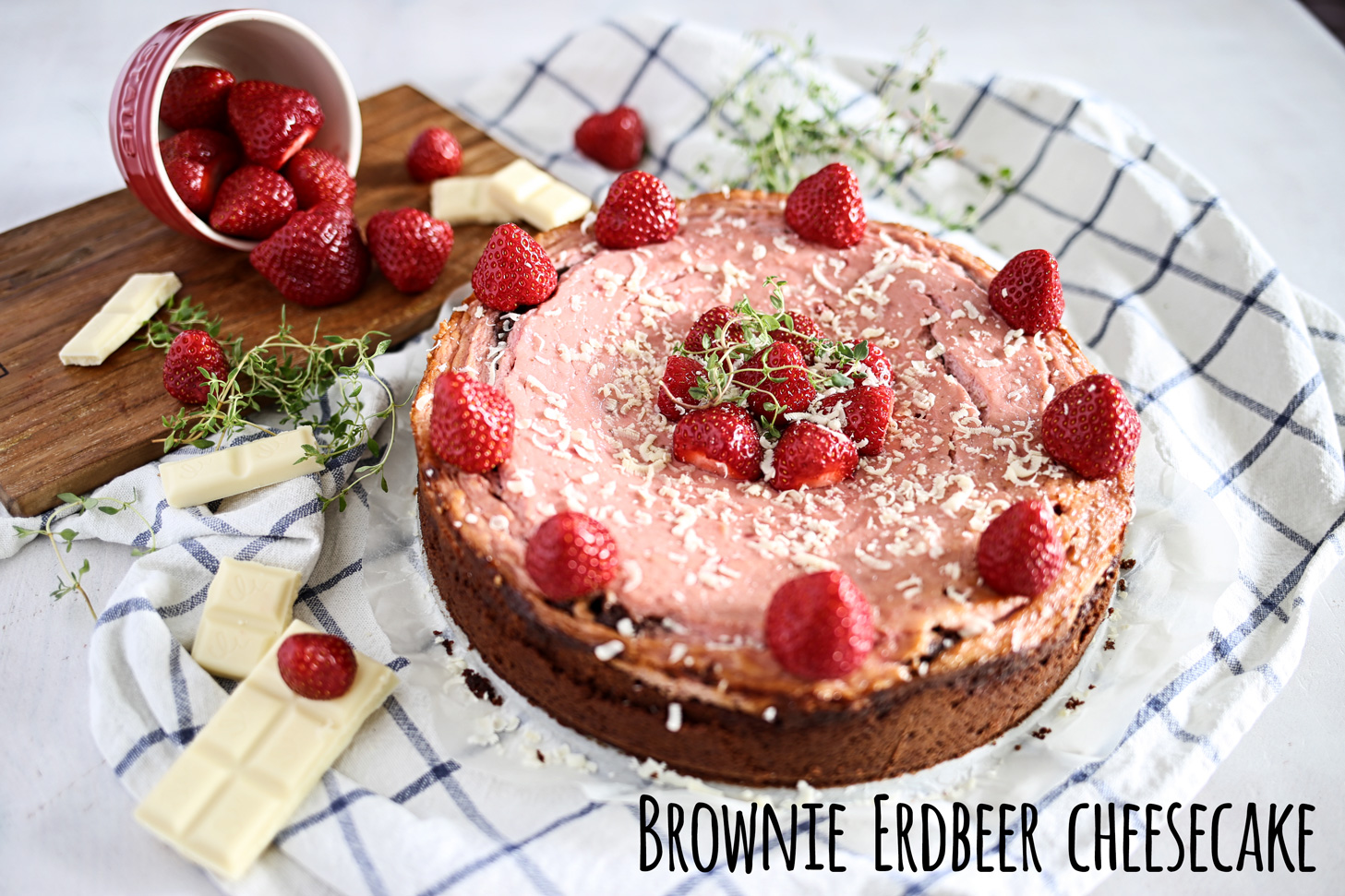 Brownie-Erdbeer-Cheesecake
