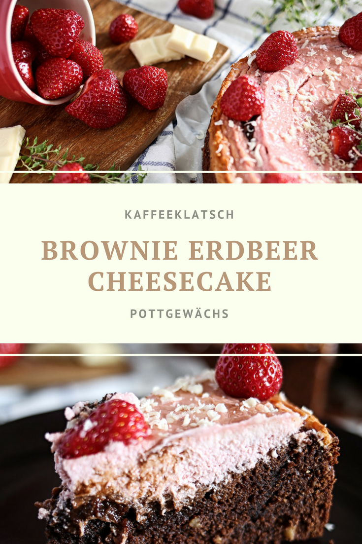 Brownie-Erdbeer-Cheesecake