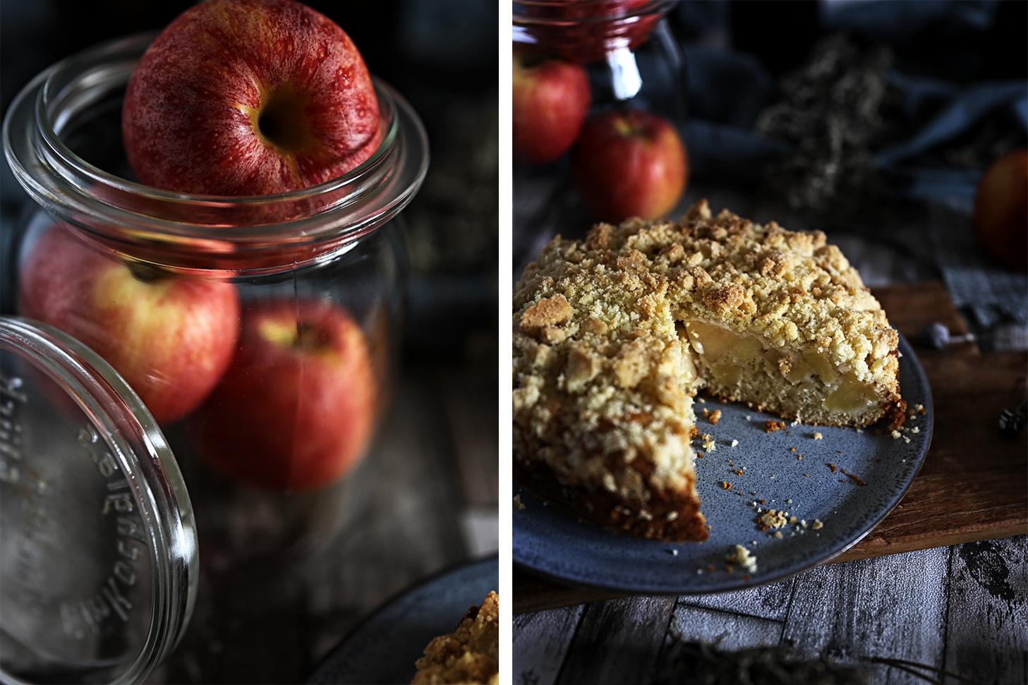 Streuselkuchen Rum-Äpfel