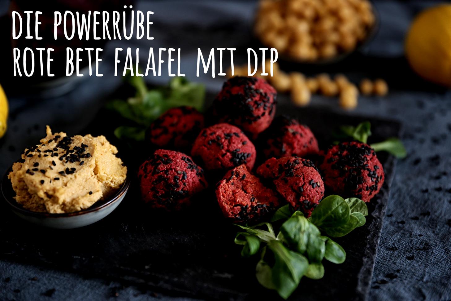 Die Powerrübe: Rote Bete Falafel mit Dip