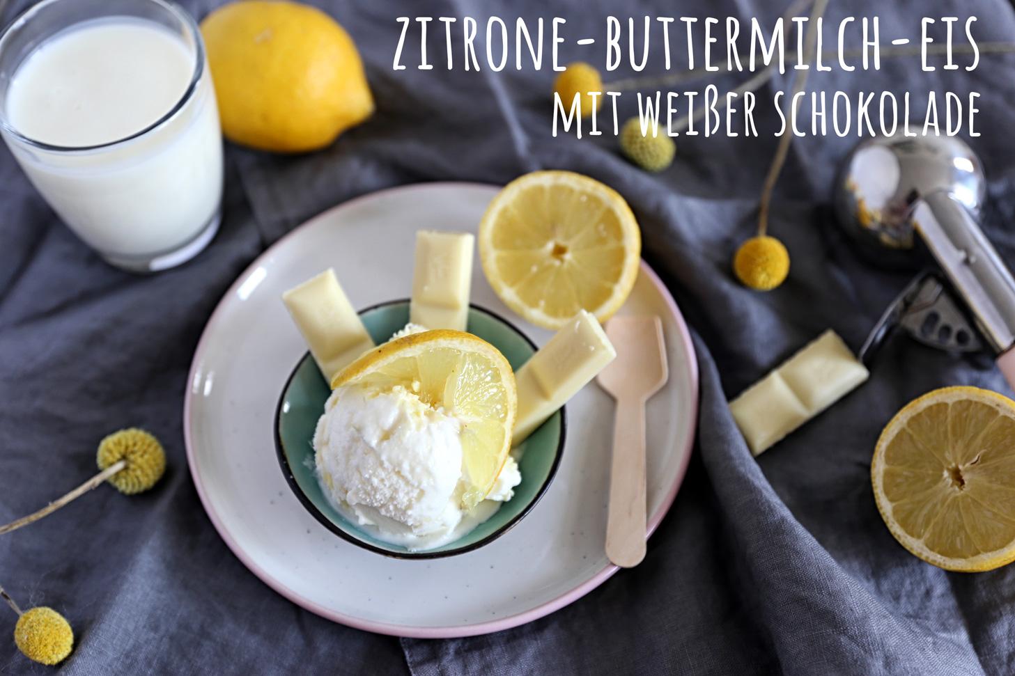 Zitrone-Buttermilch-Eis