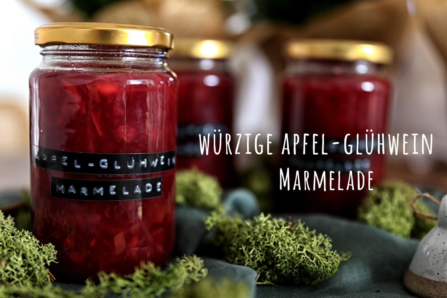 Würzige Apfel-Glühwein Marmelade