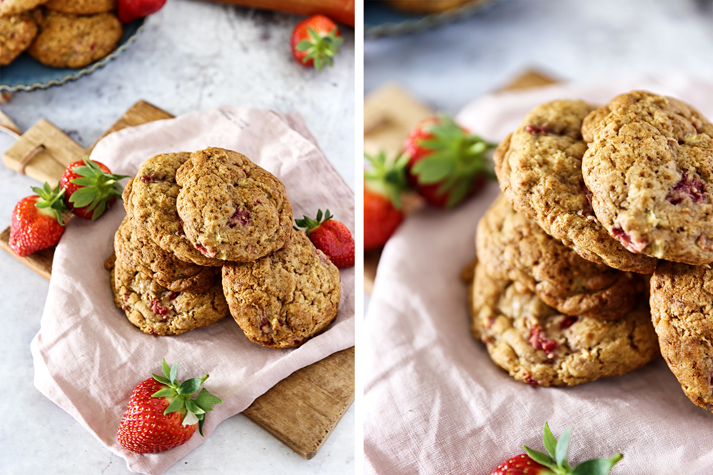 Erdbeere-Rhababer-Cookies