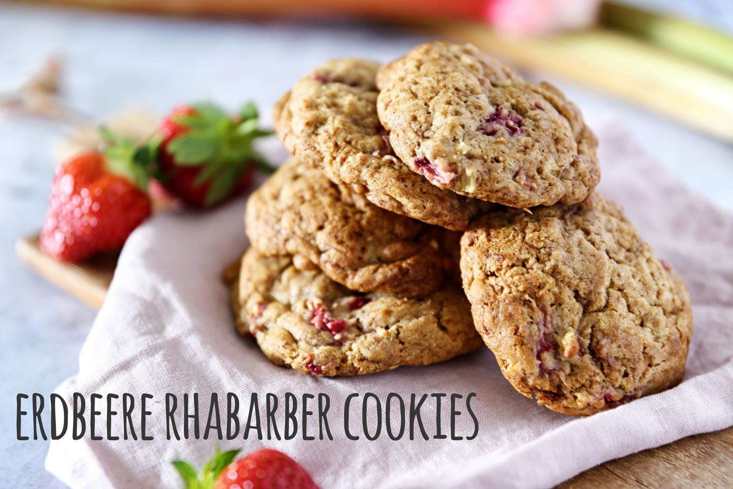 Frühling auf der Zunge: Erdbeere Rhabarber Cookies - Pottgewächs