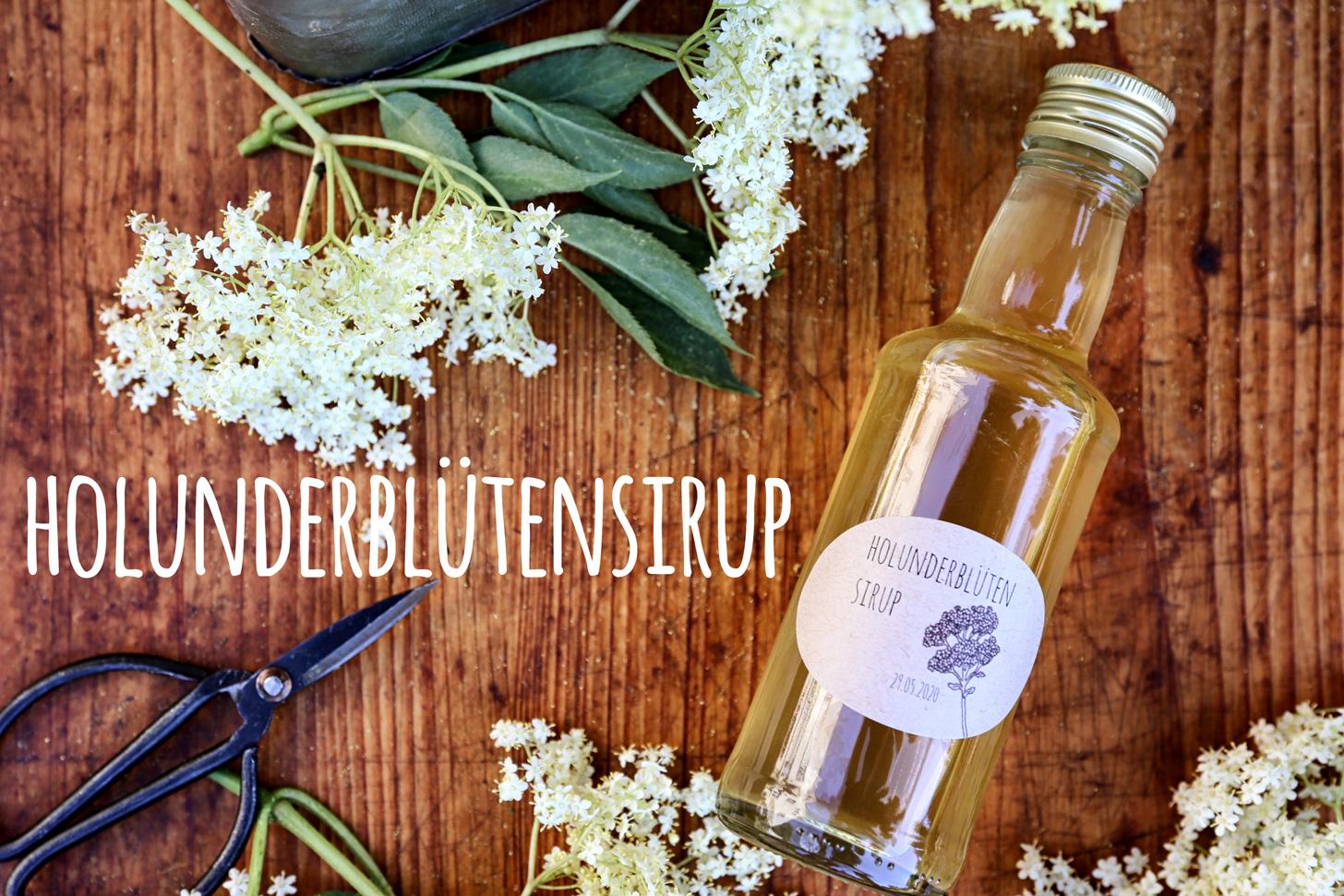 Holunderblütensirup mit Zitrone und Limette - Pottgewächs