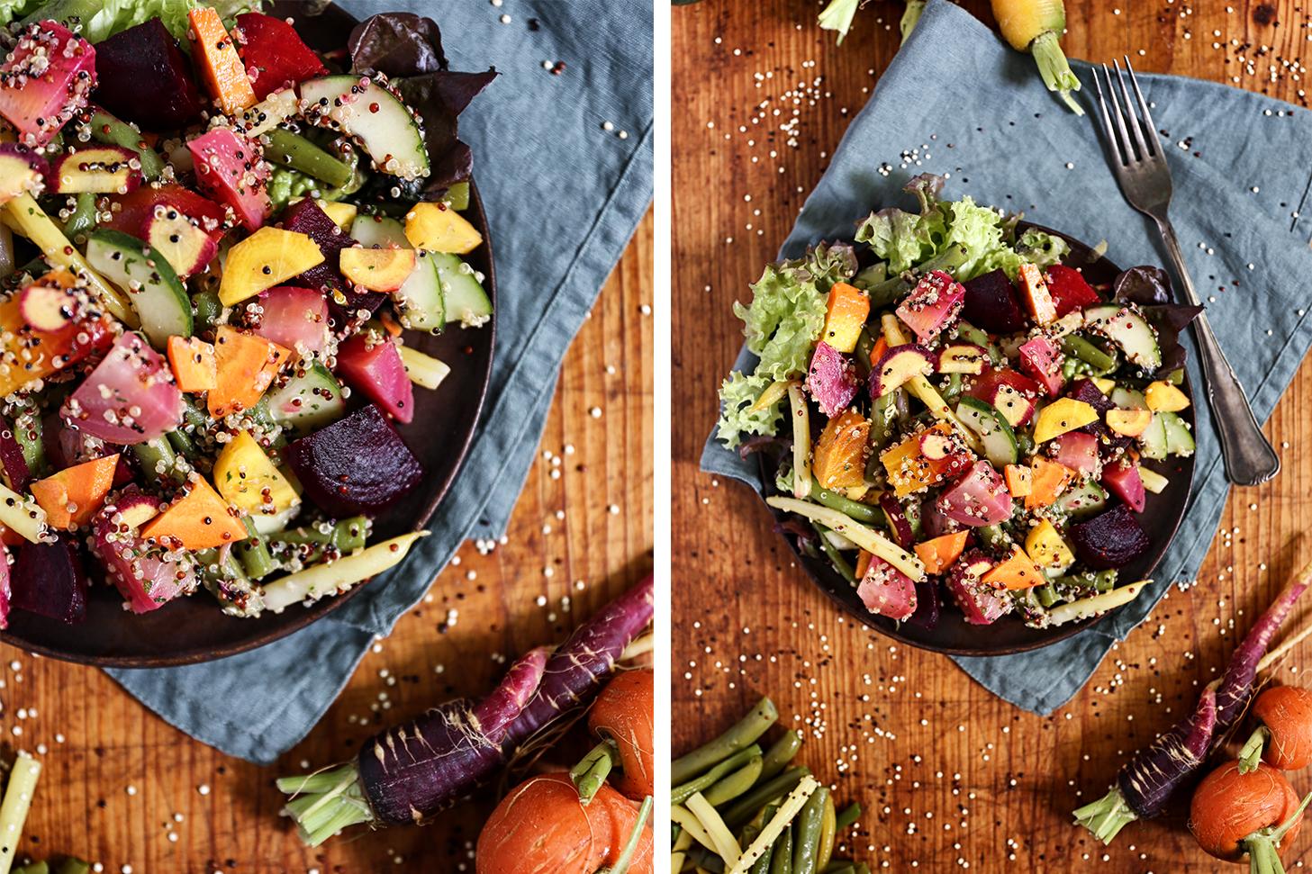 Bunter Gartensalat mit Quinoa