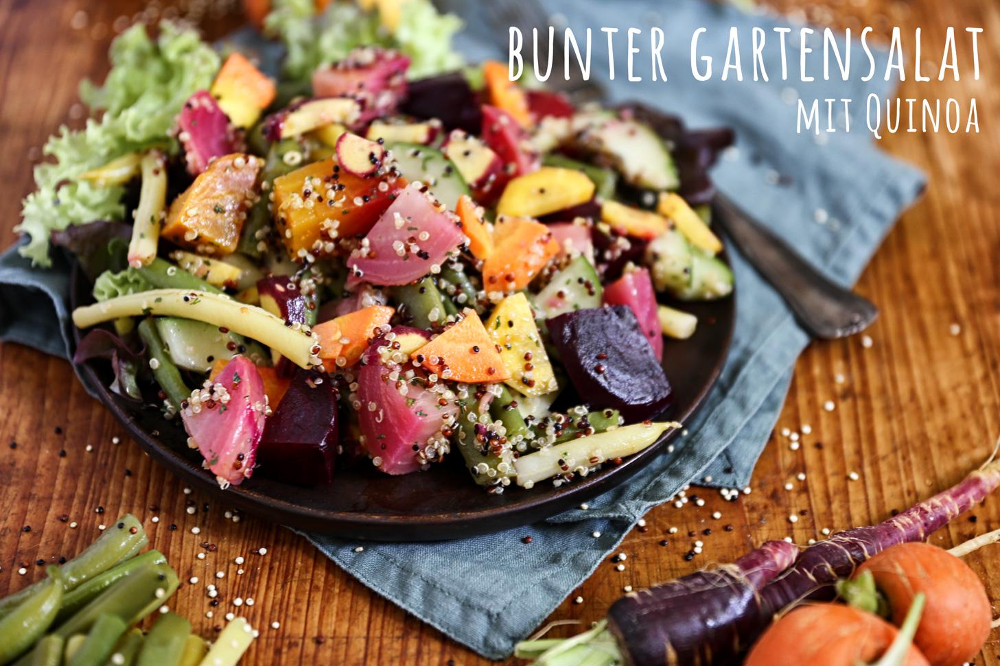 Bunter Gartensalat mit Quinoa - Pottgewächs