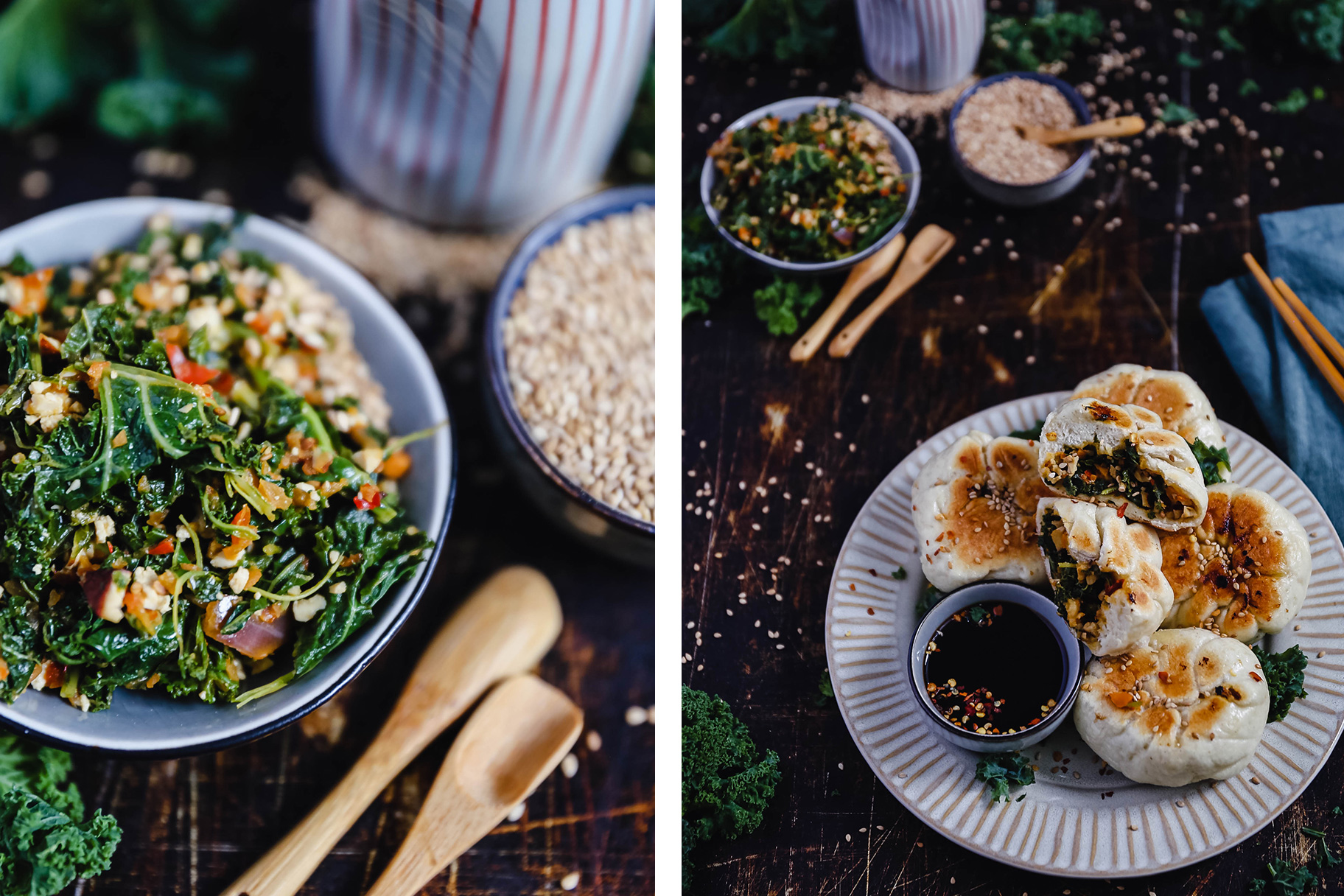 Baozi-mit-Grünkohl